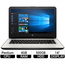 Laptop HP 14-AM060TU 14 inch Bạc (X1H09PA)